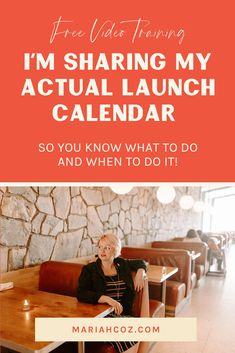 I'm Sharing My Actual Launch Calendar So You Know What To Do And When To Do It. The Simple 3-Part Course Launch Framework. The only 3 things you need to do in your course launch for it to be a success  How to eliminate stress and overwhelm from your course creation and launch with our 3-step process. #courselaunch #contentcreator #mariahcoz