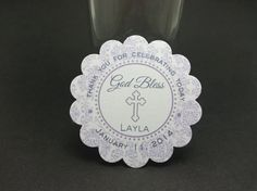 BAPTISM tags  Purple Wisteria  RESERVED by JustScrapsNThings, $20.83