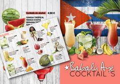 Cart cocktails Cart, Exotic, Mango, Cocktails, Alcohol, Tropical, Table Decorations, Design, Home Decor