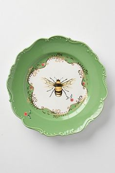 bee plate. @kaelah beauregarde. If you're going to start collecting plates for your wedding I think you need this one for yourself :)