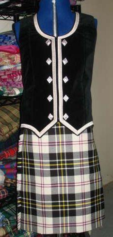 Kilt with black vest #macpherson #black #tartan