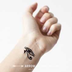 Set of 2 Eye of Horus Egyptian temporary tattoo by ArrowTattoo