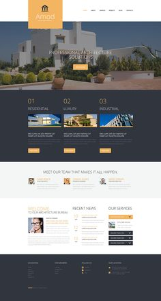 Pro Construction Office WordPress Theme - Host your website with Unlimited Web Hosting plan. Dont need to worry about overusing the cpu or ram. Page Design, Ui Design, Layout Design, Design Websites, Maquette Site Web, Pag Web, Web Design Tutorial, Template Web, Web Design Quotes