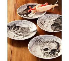 Curiosity Appetizer Plates, Set of 4 #potterybarn
