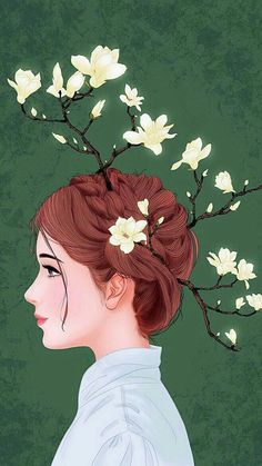 Find images and videos about girl, art and flower on We Heart It - the app to get lost in what you love. Art And Illustration, Illustrations, Cute Girl Wallpaper, Cartoon Wallpaper, Wallpaper Art, Applis Photo, Tumblr Art, Girly Drawings, Poster S