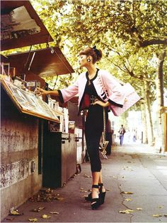 Christy Turlington in Vogue Italia 1992 Karl Otto, Grunge, Stephanie Seymour, Carla Bruni, Rocker, Helena Christensen, Steven Meisel, Linda Evangelista, Christy Turlington