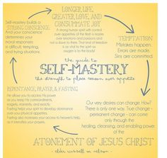 """A pivotal spiritual attribute is that of self-mastery—the strength to place reason over appetite. … Why the need for self-mastery? When we master our appetites within the bounds of God's laws, we can enjoy longer life, greater love, and consummate joy."" From Elder Russell M. Nelson's http://pinterest.com/pin/24066179230963800 Oct. 2013 http://facebook.com/223271487682878 message http://lds.org/general-conference/2013/10/decisions-for-eternity #LDSconf #SelfMastery #ShareGoodness"