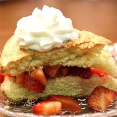"Strawberry Shortcake | ""Excellent shortcake that melts in your mouth. I used butter because I was out of shortening. Still turned out great!"""