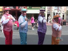 Dapper Dans sing boy band songs on Main Street USA at Walt Disney World. This is awesome!!!!!!