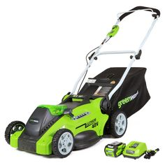 "GreenWorks G-MAX 40V 16"" Cordless Lawn Mower - Sam's Club"