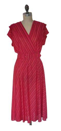 Vintage 70's Striped Sally Lou Dress w/ Belt by BobcatVintage, $30.00