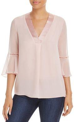 Women S Fashion Dresses Online Bell Sleeve Blouse, Bell Sleeves, Blazer Fashion, Fashion Outfits, Cheap Fashion, Fashion Women, Stylish Shirts, Elie Tahari, Blouse Designs