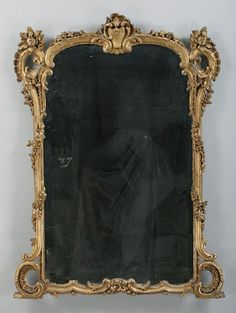 Chalkboard with an ornate, gold frame. I want to make this!