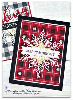 "Mistletoe Wishes 6/"" x 6/"" Paper Pad 24 Sheet Stripe Tartan Christmas Card Making"