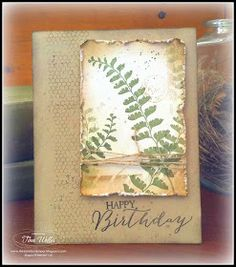 Stampin' Up! ... handcrafted card ... weathered Vintage look ... from The Serene Stamper: A Bit of Nature ...