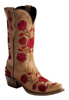 Lucchese Roses & Thorns Embroidered Cowgirl Boots - Snip Toe available at Cowgirl Jeans, Cowgirl Boots, Western Boots, Cowboy Hats, Westerns, Boot Scootin Boogie, Rustic Outfits, Boot Jewelry, Over Boots
