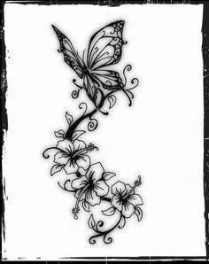 tribal butterfly