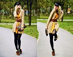 dress w/ long cable sweater