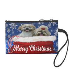#Shih tzu Key Coin Clutch Christmas Dog Coin Wallet - #shih #tzu #puppy #dog #dogs #pet #pets #cute #shihtzu
