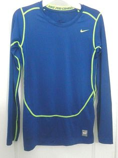 54382aaf Details about Nike Pro Combat Athletic Dri-fit Compression Long Sleeve Shirt  Youth Size XL