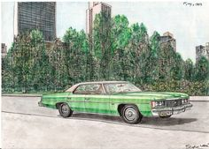 1974 Chevy Impala - drawings and paintings by Stephen Wiltshire MBE