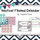 Nautical Themed Calendar including months and numbers.   4 sets of numbers (2 chevron, 2 stripe) 1 set of months- each month varies in style all st...