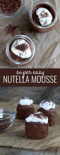 This super easy, no-bake Nutella chocolate mousse is perfect for your Valentine—or any time. A few ingredients are all it takes.