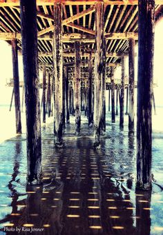 """Pismo Beach. My dad carried me on this pier many times. """"Daddy hold me"""" I might fall through the cracks!"""""""
