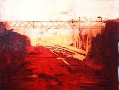 "Saatchi Art Artist Marta Zamarska; Painting, ""Rails at Sunset"" #art"