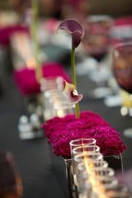 Blissique: Fuchsia and black for a stylish affair #celebstylewed #bridal