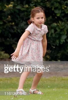 Princess Charlotte of Cambridge attends the King Power Royal Charity Polo Match in which Prince William Duke of Cambridge and Prince Harry Duke of.
