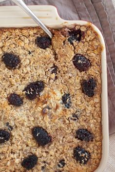 You'll love this baked oatmeal recipe, which calls for coconut milk and coconut flakes, and is naturally sweetened with maple syrup. Use your favorite berries!