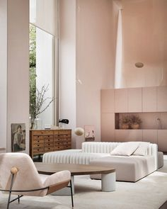 Want to refine your interior design style? We rounded up nine stylish, minimalist living rooms that inspire a more streamlined approach to decorating. Rooms Decoration, Room Decor, Interior Design Inspiration, Home Interior Design, Color Interior, Contemporary Interior Design, Deco Design, Home And Deco, Living Room Interior
