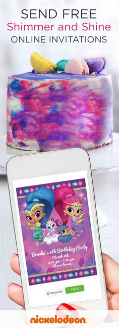 Are you planning a genie-themed Shimmer and Shine birthday party for your kid? Before you prepare the super sparkly birthday cake, kick off your party planning with these online invitations featuring Shimmer, Shine, Nahal, and Tala. This is a magical option if you need a free, last-minute, paperless party hack for your kid's birthday party invites.