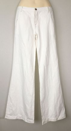 J Brand 1300 Mid-Rise Joplin Palazzo / Wide-Leg Jeans in Cream, Size 28