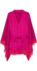 Agent ProvocateurNovah lace-trimmed stretch-silk kimono