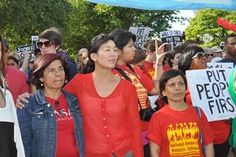 Ai Jen Poo and other organizers from the National Domestic Workers Alliance. (Feministing)