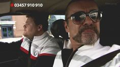 Cruising ... James Corden and George Michael