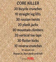 Core Killer Workout