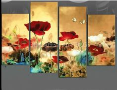 GUDI-Modern abstract hand-painted oil painting art decoration Flowers Unframed