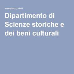 Dipartimento di Scienze storiche e dei beni culturali