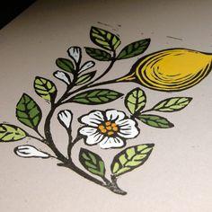 Lemon Block Print by giardino on Etsy. $36.00, via Etsy.