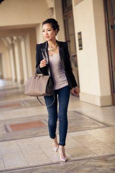 Leather blazers add style to any piece #SocialblissStyle #Leather #Blazer