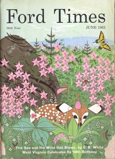 "Charley Harper cover illustration for ""Ford Times"""