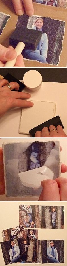 Awesome DIY Image Transfer ProjectsTransferring photos onto just about any surface such as wood, metal, glass, terra cotta and even fabric has become a popular craft projects. Photo Projects, Diy Projects To Try, Crafts To Make, Fun Crafts, Craft Projects, Arts And Crafts, Photo Craft, Diy Photo, Wood Photo