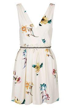 Floral Wrap Front Sun Dress - Topshop USA