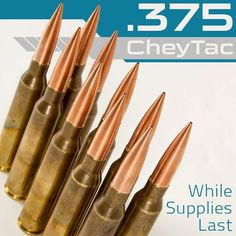 WE'VE GOT .375 CHEYTAC AMMO! If you have the ELR rifle then we now have the ammo that tack driver has been craving. Extremely long range. Legendary accuracy. Limited supply. First come, first served begins now: 801-975-7272.