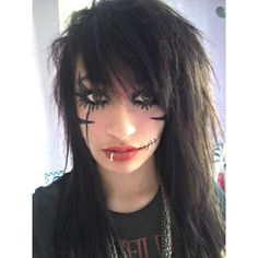 Black Veil Brides War Paint by xNightmarexxAngelx ❤ liked on Polyvore featuring makeup