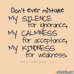Don't ever Mistake it