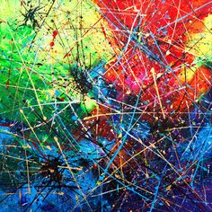 SOLD but similar is available by commission. This is a Contemporary Professional Painting direct from my Studio in England. Artist: Anna Bulka Title: spiders -Medium: Acrylic, glitter, metallic, This painting is 100 % Original, Acrylic, textured, on canvas, own technique. Colour: Red, white, blue, green, black, gold SIZE: 90x90cm Ready to hang. -My paintings are signed on the canvas and paintings finished with a varnish. Feel free to view my other items. My official page: www.artpain...